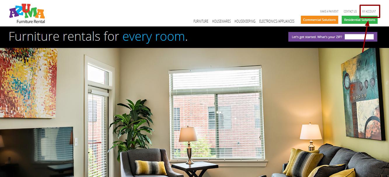 AZUMA Furniture Rental Login