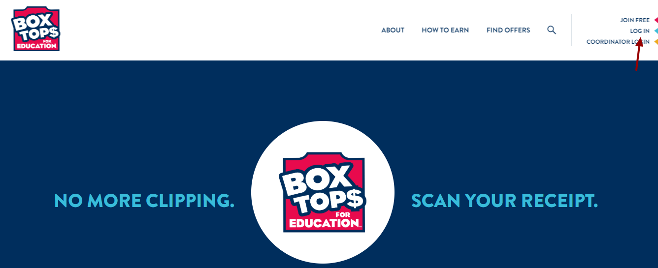 Box Tops for Education Login