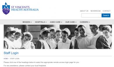 st vincent health staff logo