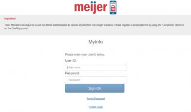 MyInfo Sign In