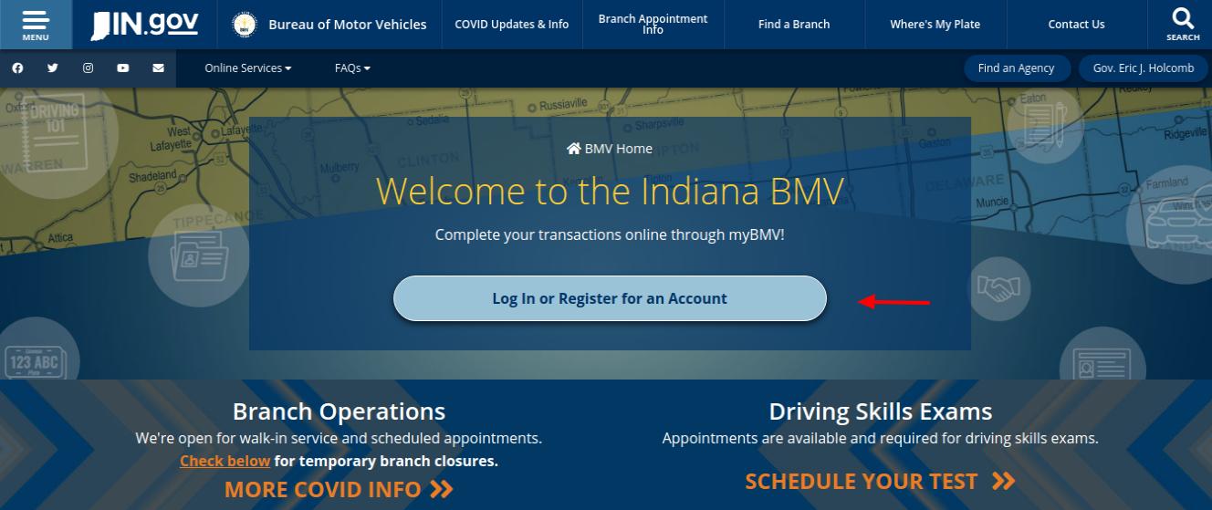 BMV Indiana Bureau of Motor Vehicles Login