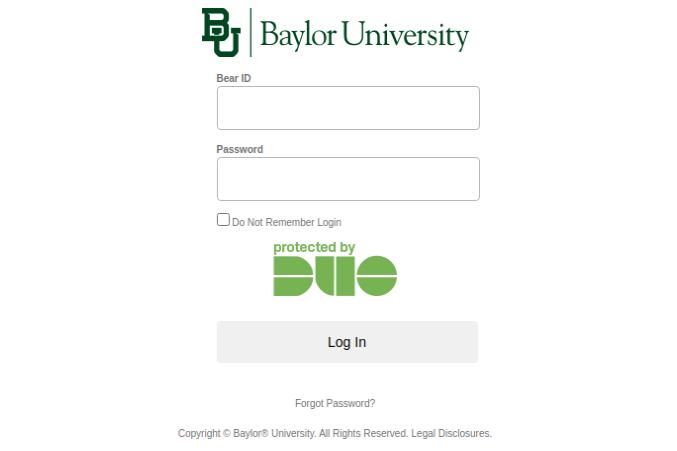 Baylor University Login