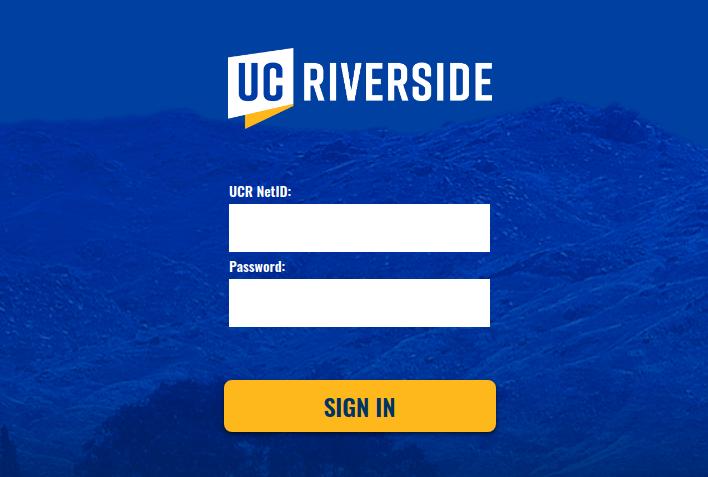 UCRiverside Login