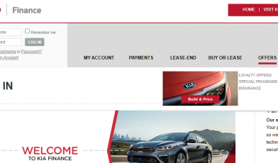 kia motors finance login